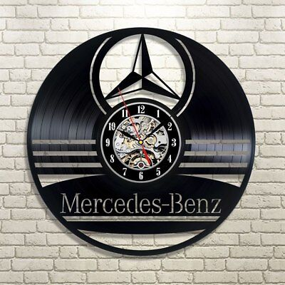 Mercedes-Benz Car Handmade Art Retro Vinyl Record Wall Clock Modern Gift For Him