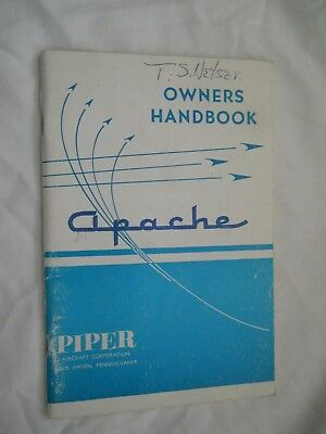 Owner's Handbook Piper Apache (1967, Paperback, Revised, Illustrated)