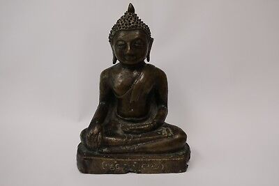 Antique Bronze Chiang Sean Alter Buddha from Thailand.  19C or 20C