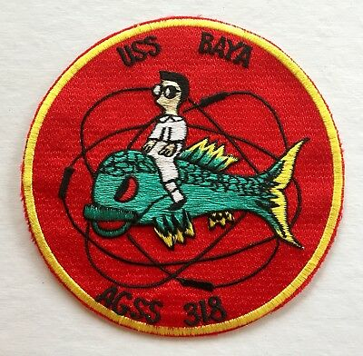 Vintage/Original USS Baya, AGSS-318, Jacket Patch, US Navy, Japanese Made
