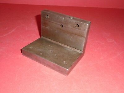 An Angle Plate,  Hardened & Ground.  Nominally 3 x 3 x 4in. long