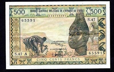 West African States  500 Francs  P102Aj  good VF