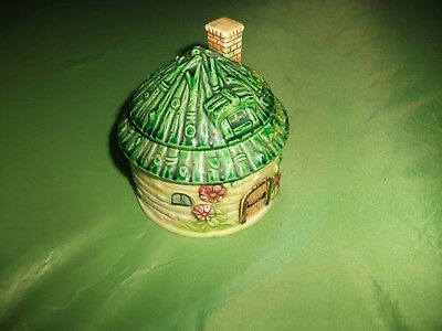 By Mahut,japan-House Shaped Sauce Pot(?)-In Good Cond.-4 Ins Tall-3.5 In Diamtr.