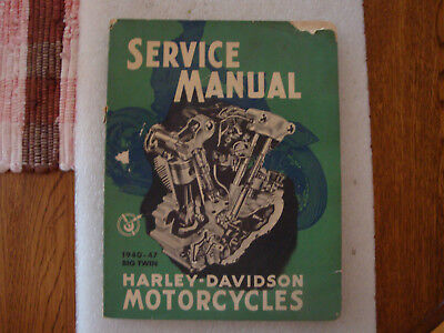 1940-47 Big Twin Harley Davidson Service Manual Knucklehead 1980 printing