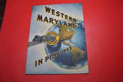 """Lg 1950s Western Maryland Issued Pictorial Promo/Sales Bk VGC-""""WM In Pictures"""""""