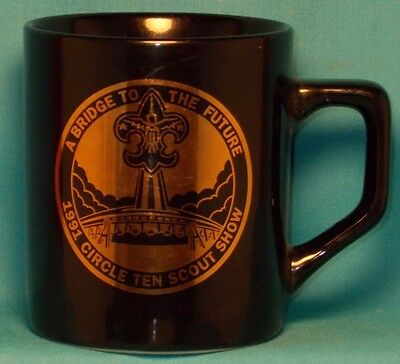 "BOY SCOUTS ""A Bridge to the Future"" Circle Ten Scout Show 1991 COFFEE CUP / MUG"