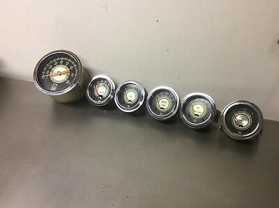 stewart warner green line gauges Set