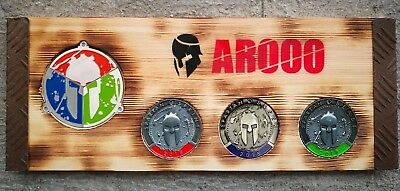Spartan Race Trifecta medals Display medagliere medaglia OCR Mud Run