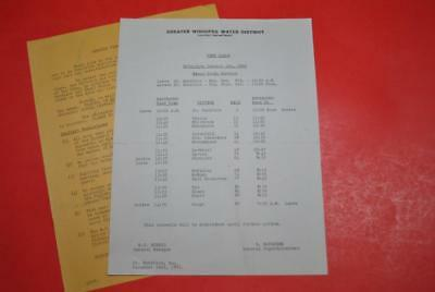 1956 Greater Winnipeg Water District Mixed Train TT Company Made EXC
