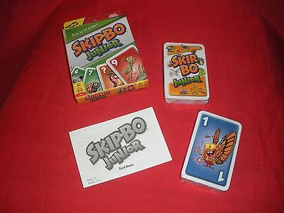 Skip-Bo Junior Sequencing Card Game Age 5+ 2-4 Players Mattel  New