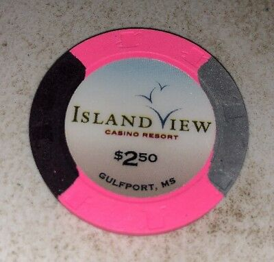 Island View Casino $2.50 Gulfport Mississippi Casino Chip 2.99 Shipping