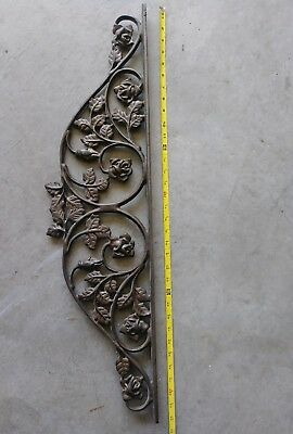 Large Rose Design Inserts Furniture Heavy Duty Solid Cast Iron, ( 34 X 9 inches)