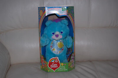 Vintage Care Bears Environmental BEDTIME BEAR Plush w/Original Box Kenner 1991