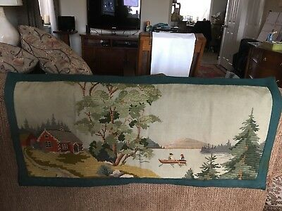 Early 1900s Needlepoint Wall Tapestry