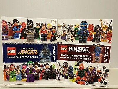 DK Lego DC Super Heroes & Ninjago Character Encyclopedia 2 Books Collection NEW