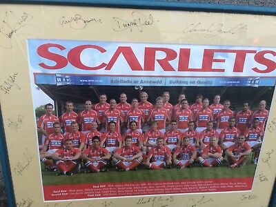 Signed Scarlets Photo