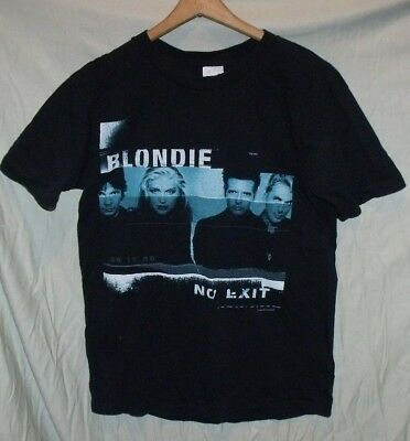 "VTG 1998 Blondie ""No Exit"" T Shirt Anvil MEDIUM Cotton"