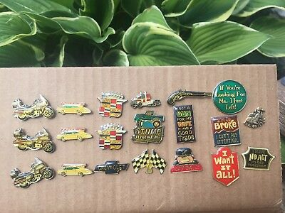 Cadillac, Chevy, Firebird,harley, Crest Hat Pin Lapel Pin Tie Tac Enamel Badge