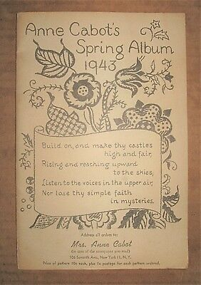 Vintage 1943 ANNE CABOT Spring Album Mail Order Sewing Pattern Catalog