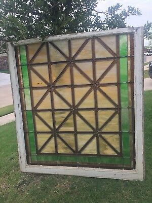 "Victorian Stained Glass Window From Church in Whitesboro, Tx 44"" X 40"""