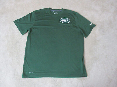 NIKE New York Jets Shirt Adult Extra Large Green White Dri Fit NFL Football  Mens b007bc0c1