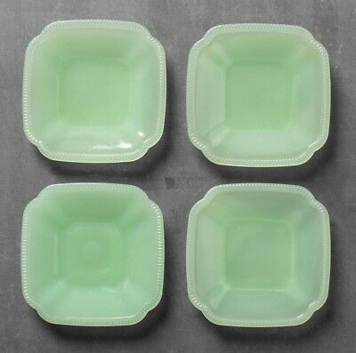 Hearth & Hand w Magnolia Jade Green Glass Appetizer Dessert Plates Set of 4 NWT