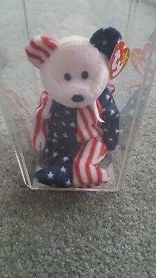 """Rare 1999 ty beanie baby """"Spangle"""" pink face MWMT error on swing tag"""
