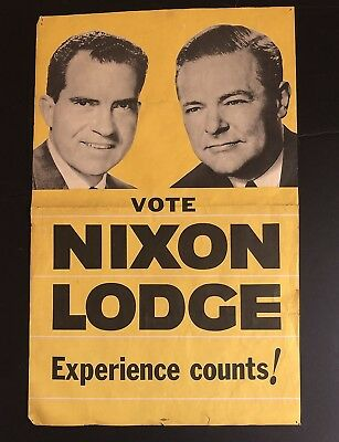 1960 Richard Nixon- Henry Cabot Lodge Presidential Campaign Poster