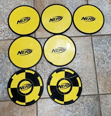 "Nerf N-Strike Disc Shot Skeet Lot of 7 Replacments 7"" Target Launcher Discs"