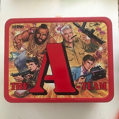 1983 The A-Team Metal Lunch Box with Thermos.