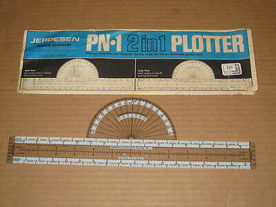 JEPPESEN PN1 2 in 1 Plotter Times Mirror Item No 4402 Protractor Sectional WAC