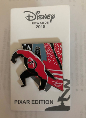 The Incredibles Disney Pin Chase Visa 2018 Rewards LE Mr Incredible Pixar 2 Excl