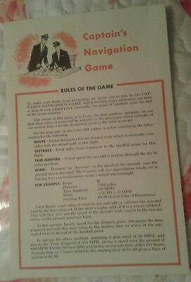 Vintage TWA AIRLINES Captain's navigation GAME 1961