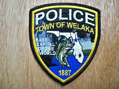 Florida - Welaka Police Patch CURRENT ISSUE WITH PMT DECAL
