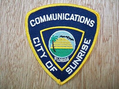 Florida - Sunrise Police Patch PREVIOUS ISSUE COMMUNICATIONS