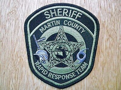 Florida - Martin Sheriff Police Patch CURRENT ISSUE RAPID RESPONSE TEAM