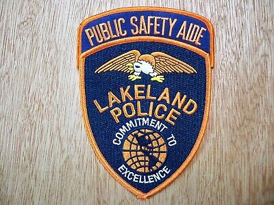 Florida - Lakeland Police Patch CURRENT ISSUE PUBLIC SAFETY AIDE SET OF 2