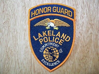Florida - Lakeland Police Patch CURRENT ISSUE HONOR GUARD SET OF 2