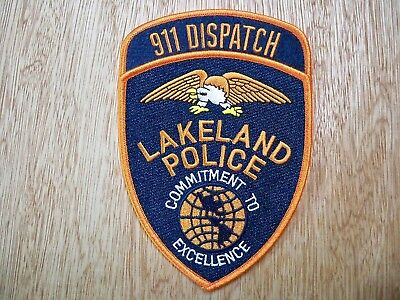 Florida - Lakeland Police Patch CURRENT ISSUE 911 DISPATCH SET OF 2