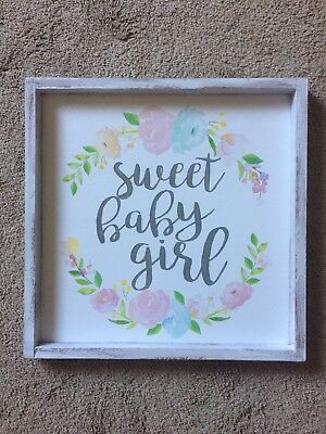 Sweet Baby Girl Floral Wall Art
