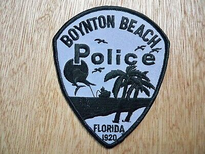 Florida - Boynton Beach Police Patch CURRENT ISSUE SUBDUED GREY CRA