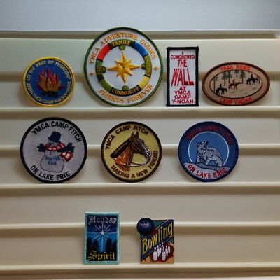 Lot 9 Unique YMCA Adventure Guides Camp FITCH Y-NOAH Conquered Wall PATCHES