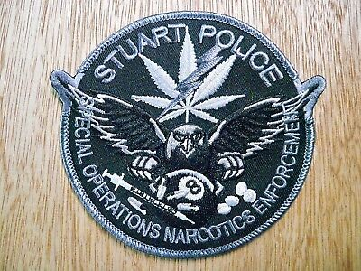 Florida - Stuart Police Patch SPECIAL OPERATIONS NARCOTICS ENFORCEMENT SUBDUED