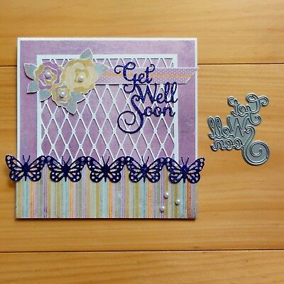 "Impression Obsession ""get Well Soon"" Sentiment Cutting Die - Bnip"