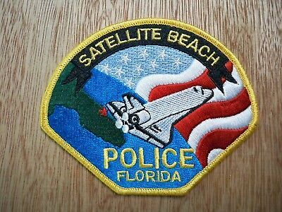 Florida - Satellite Beach Police Patch CURRENT ISSUE WITH EA DECAL