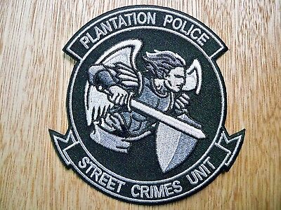 Florida - Plantation Police Patch CURRENT ISSUE STREET CRIMES UNIT SUBDUED