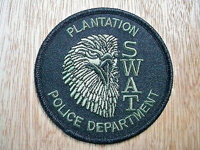 Florida - Plantation Police Patch CURRENT ISSUE LARGE SUBDUED OLIVE-GREEN