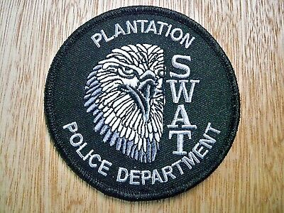 Florida - Plantation Police Patch CURRENT ISSUE LARGE SUBDUED GREY