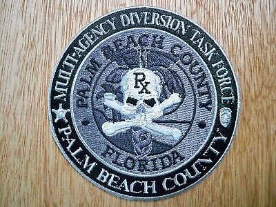 Florida - Palm Beach Co Multi-Agency Diversion Task Force Police Patch SUBDUED