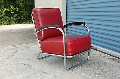 Gilbert Rohde Streamline Modern Lounge Chair Art Deco
